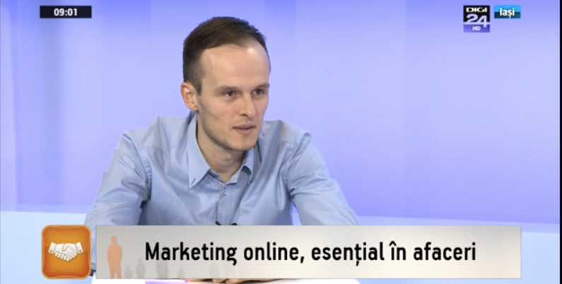 Am vorbit la Digi 24 Iași despre marketing online